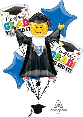 Bright Grad You Did It Bouquet of Balloons