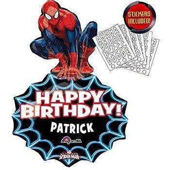 Personalize Spiderman Foil Balloon