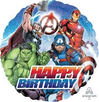 18″ AVENGERS HAPPY BIRTHDAY