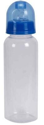 8oz BPA Free Clear Bottle, Silicone Nipple
