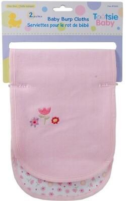 Tootsie Baby,2-pc Burp Cloth