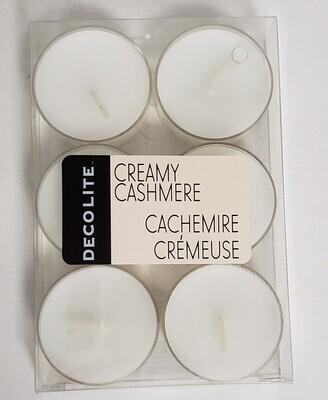 Deco Lite Set/6 Tealights-Creamy Cashmere