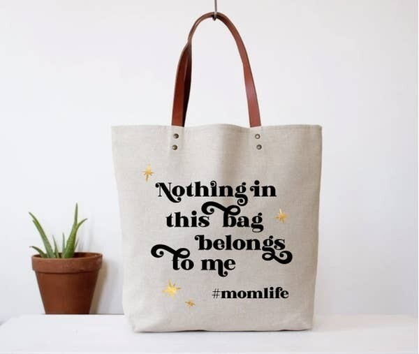 Hashtag Mom Life Tote Bag