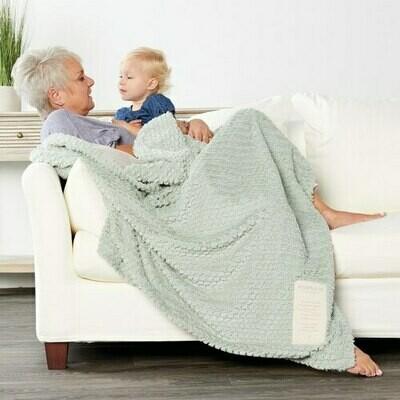 Grandma and Me Sage Cuddle Blanket
