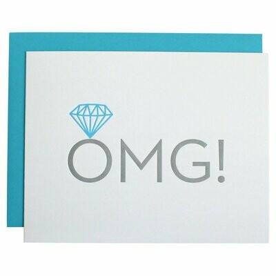OMG Engagement Letterpress Card