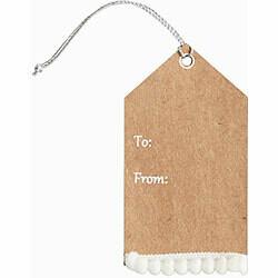 White Pom Pom Gift Tags Set/3