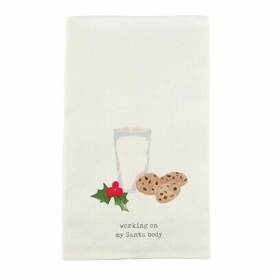 Milk And Cookie Icon Tea Towel
