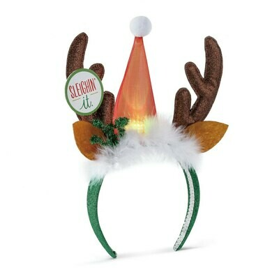 Lit Reindeer Headband