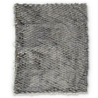 Gray Faux Fur Throw Blanket