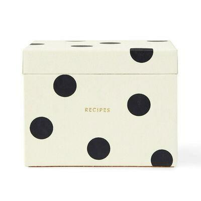Black & White Deco Dot Recipe Box