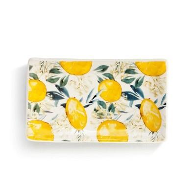 Lemon Print Rectangle Spoon Rest