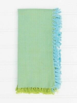 Aqua & Green Chambray Napkin