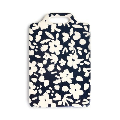 Navy Floral Cheese Board