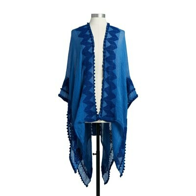 Cobalt Blue Textured Duster