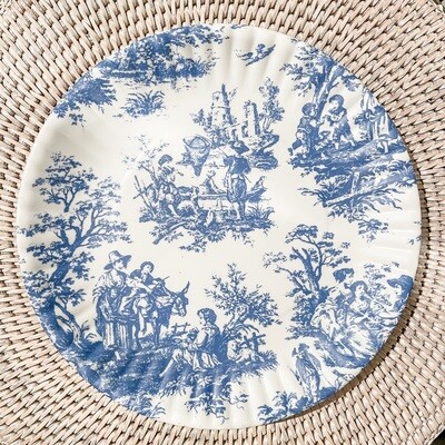 Toile de Jouy Melamine Plate