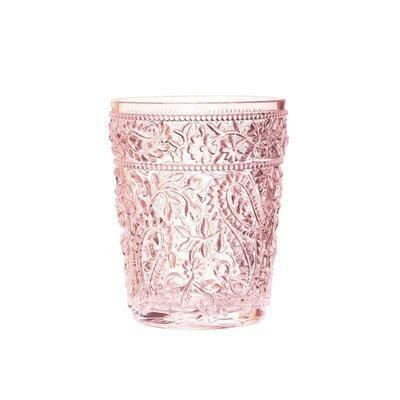 Paisley Pink Acrylic Short Glass