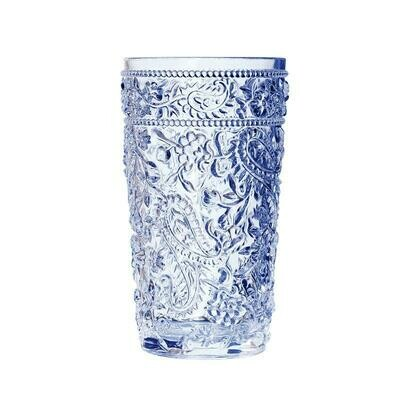 Paisley Blue Acrylic Hi-Ball Glass