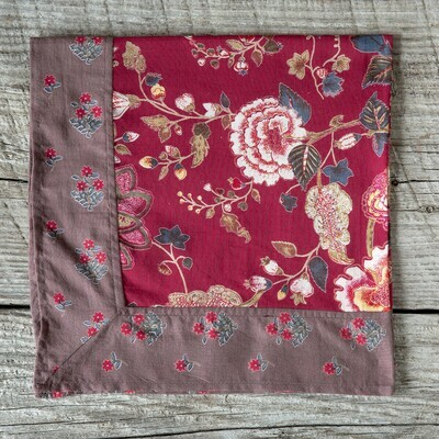 Malamar Red Cotton Voile Napkin