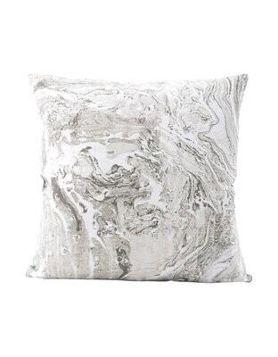 Grey Marbled Linen Pillow