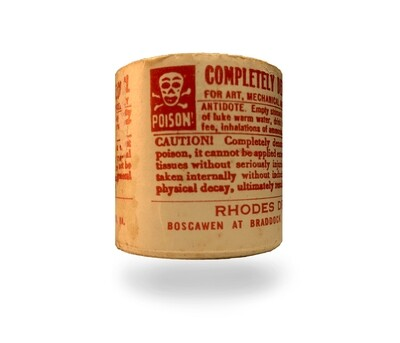 Vtg Poison Label Rolls - Completely Denatured Alcohol