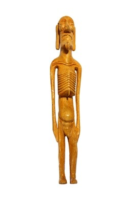 Mo'ia Kavakava Rapa Nui Hand-Carved Statue Figure