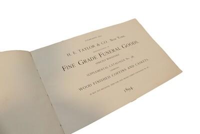 1894 H.E. Taylor & Co. Casket Salesman Book