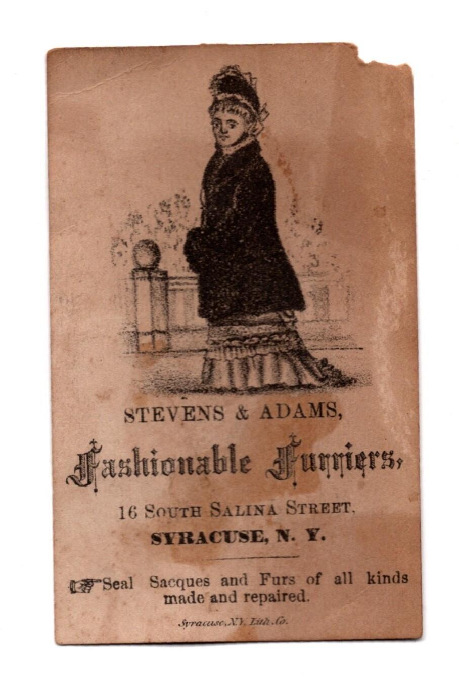 Stevens & Adams Fashionable Furriers Trade