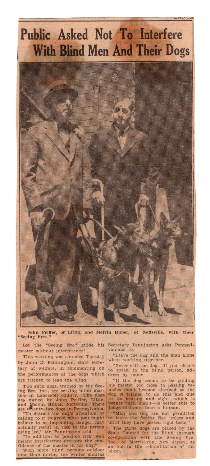 Blind Men and their Dogs 1930s