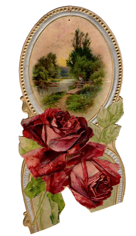 Rose Mirror Calendar Topper