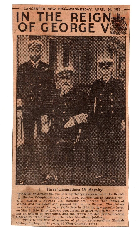 George V and Edward VIII 1930s