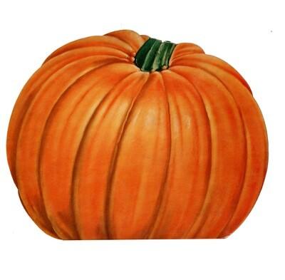 Large Vintage Pumpkin Die-Cut