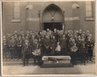 Post-Mortem Fraternal Funeral Photo 8.5x10