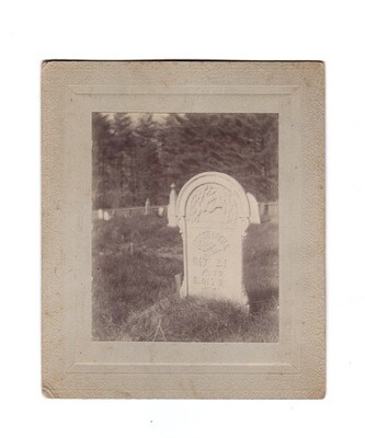 Ontario Tombstone - Andrew Hunter Cabinet Card