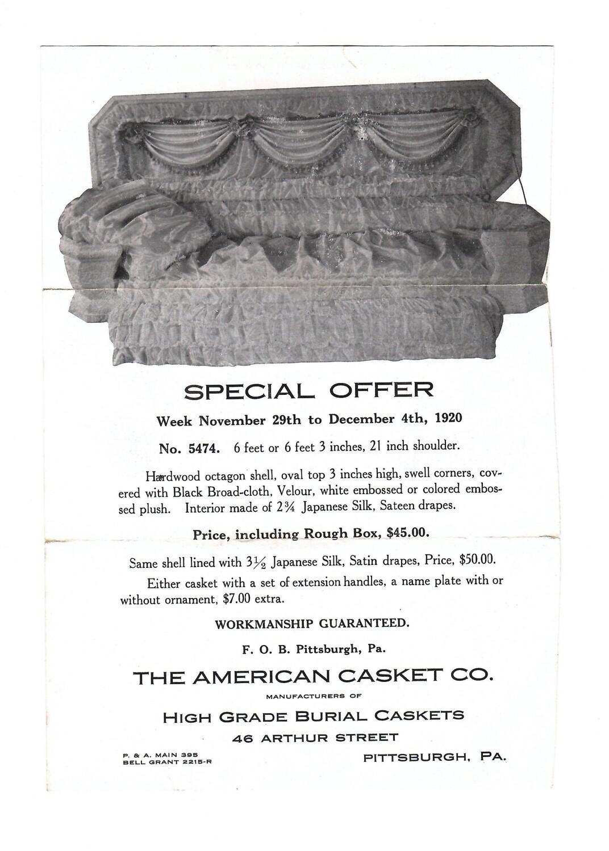 American Casket Company Advertisement