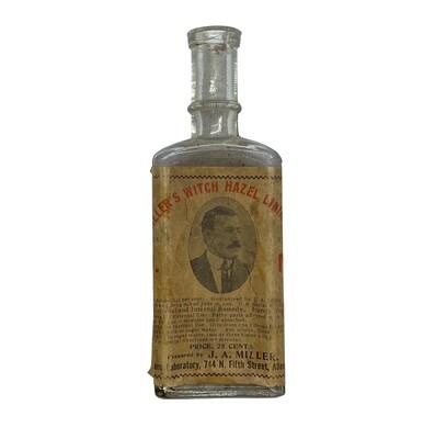 Miller's Witch Hazel Liniment Bottle