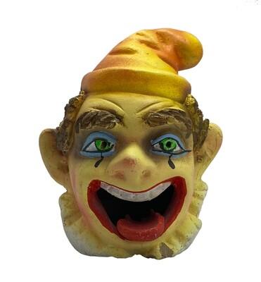 Clay Ceramic Smoking Clown Gnome Ashtray