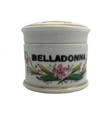 French Porcelain Belladonna Apothecary Jar