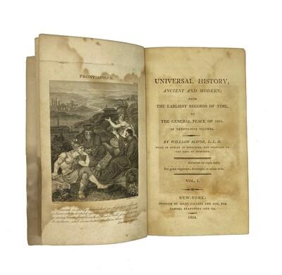 1804 Universal History by William Mavor Volumes I & XIII