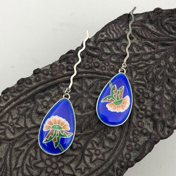 Mughal Garden Earrings - Rich Deep Blue