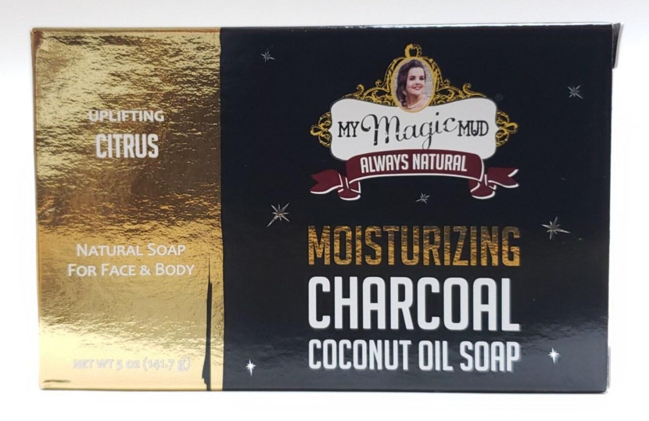 My Magic Mud Moisturizing Charcoal Coconut Oil Soap - Uplifting Citrus