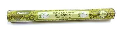 Tulasi: Nagchampa & jazmine Stick Incense (1 Unit 15 Sticks)