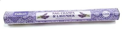 Tulasi: Nagchampa & Lavender Stick Incense (1 Unit 15 Sticks)