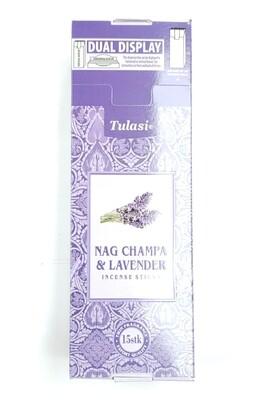 Tulasi: Nagchampa & Lavender Stick Incense Box (6 Units 15 Sticks each)