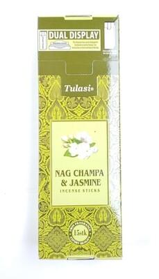 Tulasi: Nagchampa & jasmine Stick Incense Box (6 Unit 15 Sticks each)