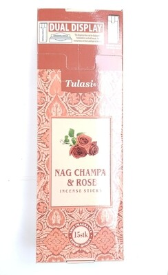 Tulasi: Nagchampa & Rose Stick Incense Box (6 Units 15 Sticks each)