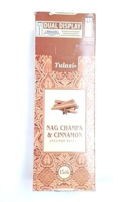 Tulasi: Nagchampa & Cinnamon Stick Incense Box (6 Units 15 Sticks each)