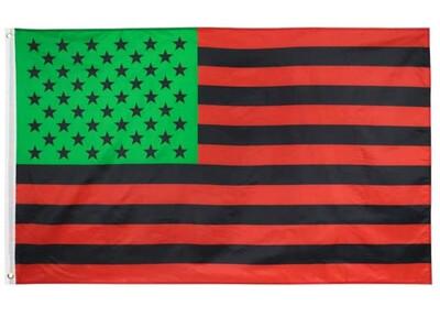 RBG Red, Black & Green USA Flag