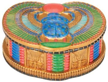 Ancient Egyptian Winged Egyptian Scarab Jewelry Box