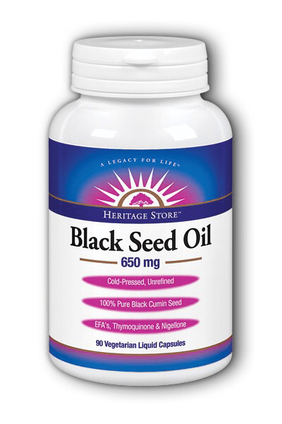 Heritage Store Black Seed Oil Capsules 650mg