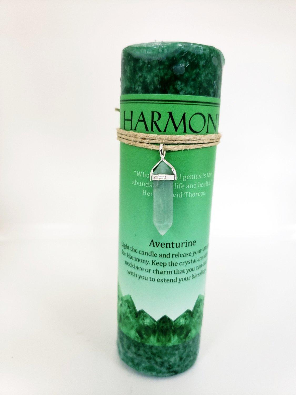 Harmony Candle with Aventurine Pendant
